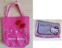 zwei Hello Kitty Tasche /Geldbörse