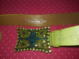Street One Cinturón de cuero de imitación multicolor tejido mezclado
