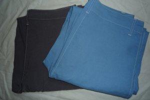 Burnetto Stretch Trousers cornflower blue-dark grey viscose