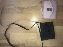 Crossbody bag light pink-black