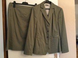 Basler Ladies' Suit grey brown cotton