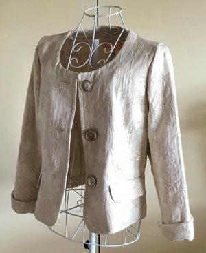 Biba Short Blazer cream cotton