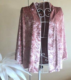 Comma Gilet long tricoté rosé