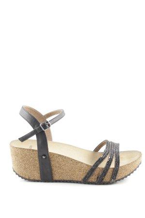 Bata Wedges Sandaletten schwarz Casual-Look