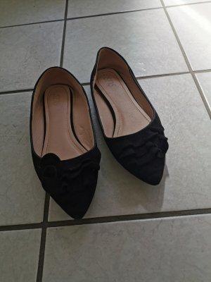Slingback ballerina's zwart