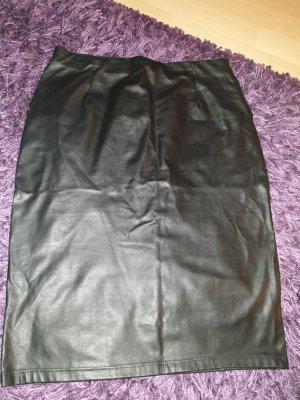 ohne Etikett Jupe en cuir synthétique noir