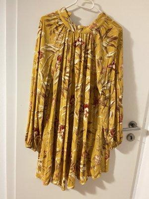 H&M Vestido de lana marrón arena
