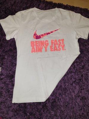 Nike Maglietta sport bianco-rosa