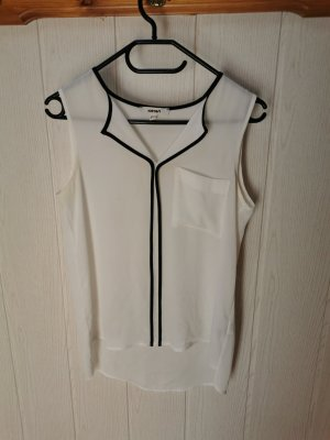 Koton T-shirt col en V blanc-noir