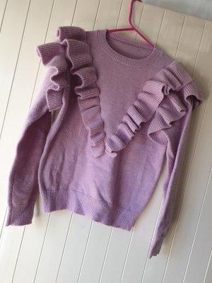 SheIn Pull en crochet violet
