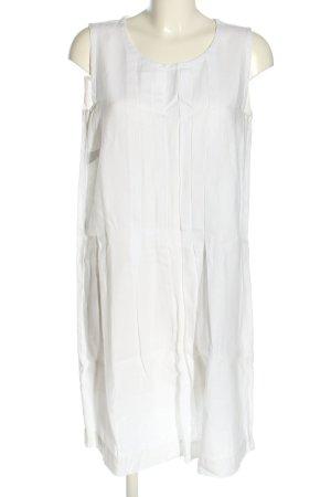 0039 Italy Robe trapèze blanc style décontracté