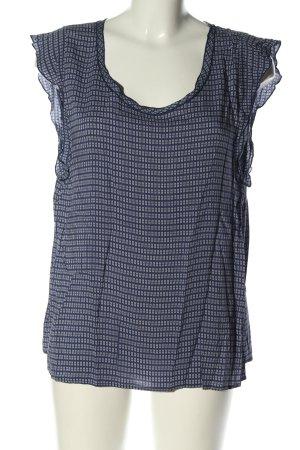 0039 Italy Blouse sans manche bleu-blanc motif à carreaux style décontracté