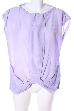 0039 Italy Blouse sans manche violet style décontracté