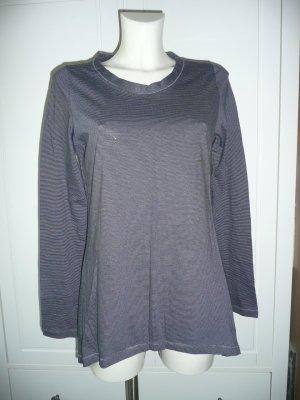 0039 Italy Basic softes Longsleeve Langarm Shirt gestreift Gr M 38