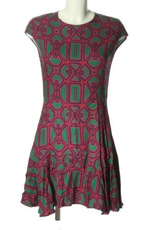 0039 Italy Sukienka koszulowa Abstrakcyjny wzór W stylu casual