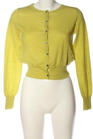 0039 Italy Kardigan bladożółty W stylu casual