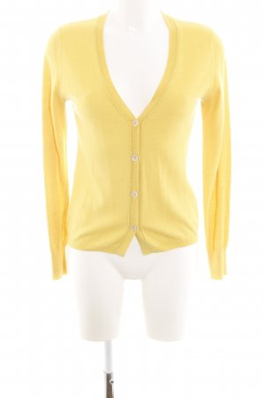 0039 Italy Cardigan jaune primevère style décontracté