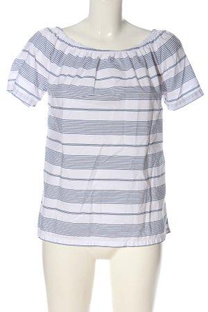 0039 Italy  bianco-blu motivo a righe stile casual