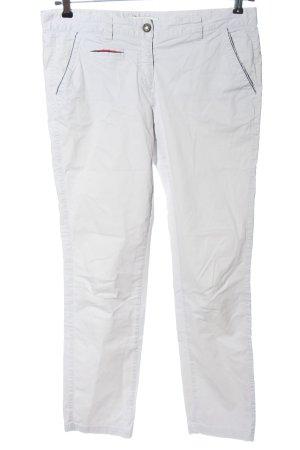 0039 Italy Pantalon chinos blanc motif rayé style décontracté