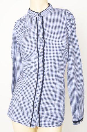 0039 Italy Damen Hemd Kariert In Blau Gr S.