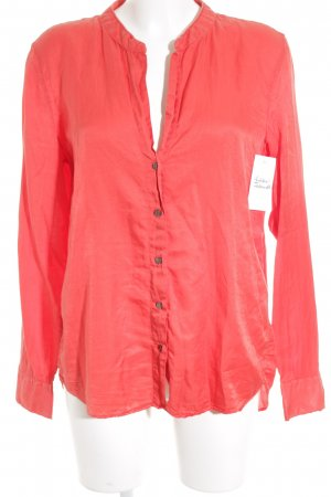 0039 Italy Blouse brillante rouge framboise