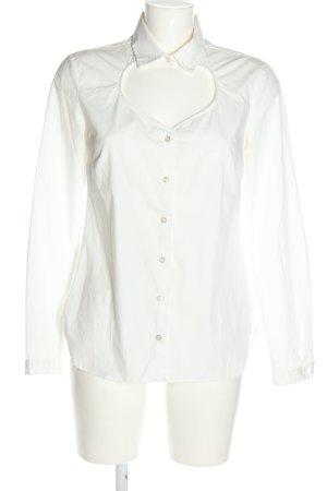 0039 Italy Blouse-chemisier blanc style décontracté