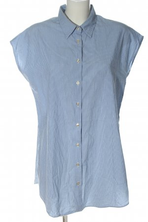 0039 Italy Hemd-Bluse blau-weiß Allover-Druck Casual-Look