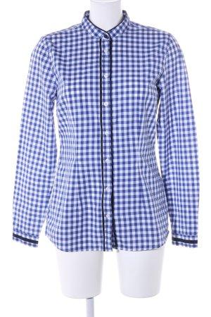 0039 Italy Hemd-Bluse blau-weiß Karomuster Casual-Look