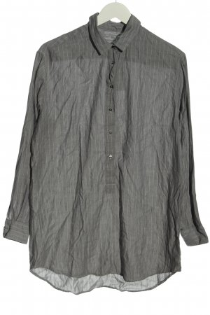 0039 Italy Camicia blusa grigio chiaro motivo a righe stile professionale