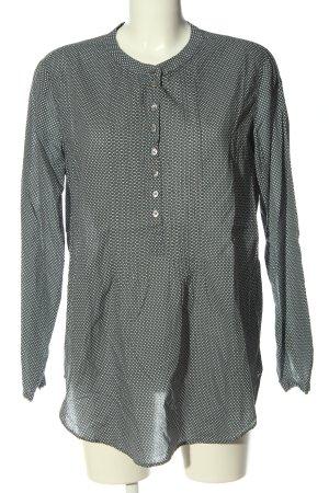 0039 Italy Koszulowa bluzka jasnoszary-biały Wzór w kropki W stylu casual