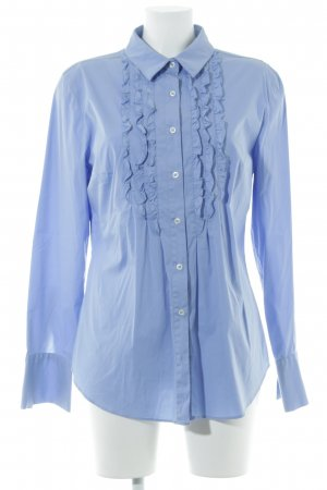 0039 Italy Hemd-Bluse himmelblau Business-Look