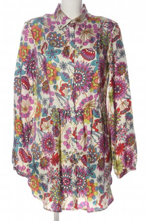 0039 Italy Vestido tipo blusón estampado con diseño abstracto look casual