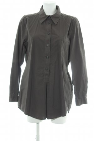 0039 Italy Hemdblusenkleid anthrazit schlichter Stil