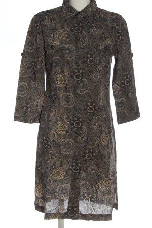 0039 Italy Koszulowa sukienka Abstrakcyjny wzór W stylu casual
