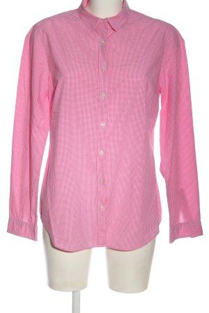 0039 Italy Houthakkershemd roze-wit geruite print zakelijke stijl
