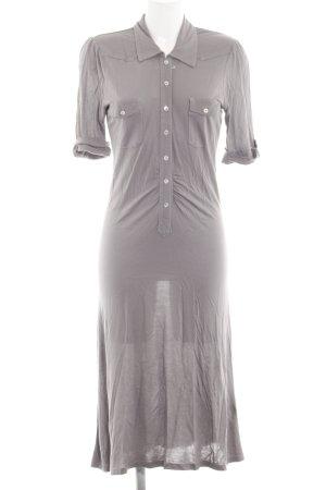 0039 Italy Robe en jersey gris clair style décontracté