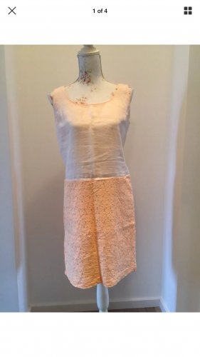 ❤️ 0039 Italy Kleid Leinen Spitze Gr. S