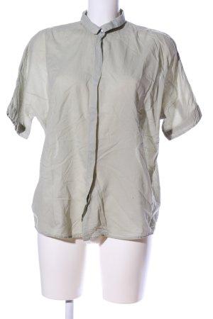 0039 Italy Blouse à manches courtes gris clair style décontracté