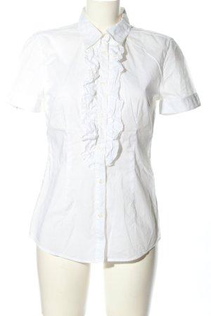 0039 Italy Blouse met korte mouwen wit zakelijke stijl
