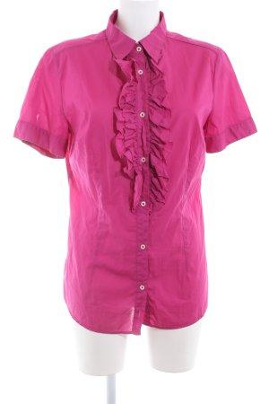0039 Italy Kurzarm-Bluse mehrfarbig Casual-Look