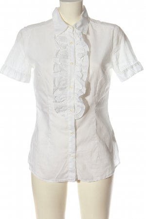 0039 Italy Camisa de manga corta blanco look casual