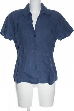0039 Italy Short Sleeve Shirt blue flecked casual look