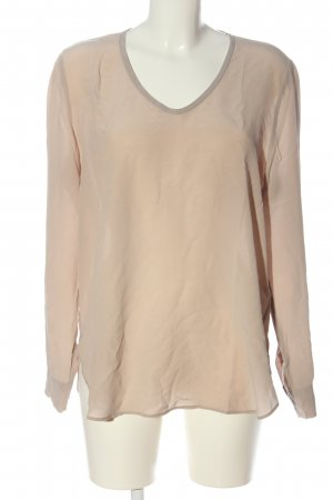 0039 Italy Langarm-Bluse nude Casual-Look