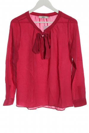 0039 Italy Langarm-Bluse rot Business-Look