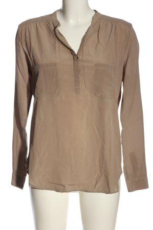 0039 Italy Langarm-Bluse braun Casual-Look