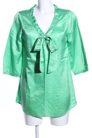 0039 Italy Langarm-Bluse grün Casual-Look
