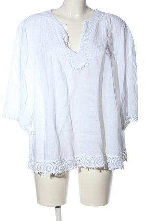 0039 Italy Bluzka z długim rękawem biały W stylu casual