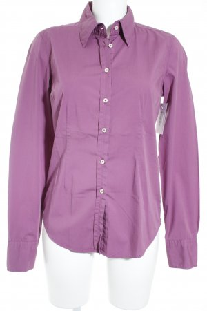 0039 Italy Langarm-Bluse violett schlichter Stil