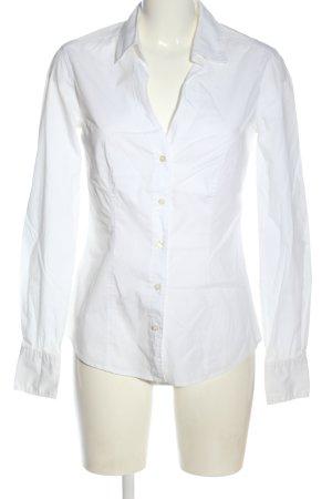 0039 Italy Shirt met lange mouwen wit zakelijke stijl