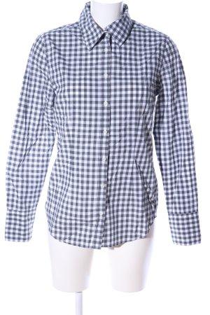 0039 Italy Chemise à manches longues blanc-gris clair motif à carreaux